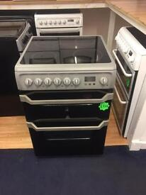 *** Silver Indesit 60cm ceramic cooker***Free Delivery**Fitting**Removal