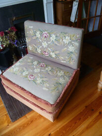 Small 2 seater LOVE SEAT/childrens sofa ANTIQUE UNUSUAL and COLLECTABLE