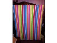 Bright striped roller blind
