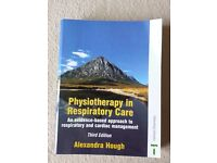 Physiotherapy in Respiratory care, by Alexandra Hough, good condition