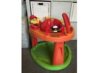 Activity center, door bouncer, activity ring, chair, gym