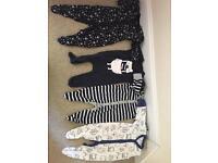 Next baby sleepsuits