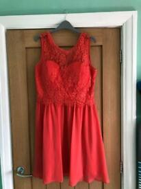 Dorothy Perkins Showcase Coral Size 14 Lola Bridesmaid Dress