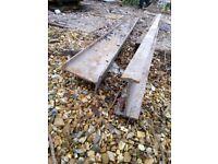 2 x Steel I Beams 2600mm £30 each