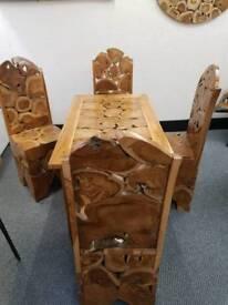 Teak hand made table