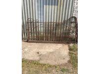 Heavy duty cast iron gate