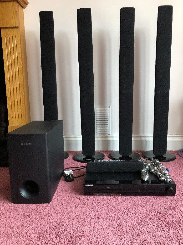 Samsung Home Cinema System Dvd 5 Speakers And Subwoofer In Lee