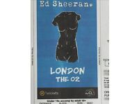 2 x Ed Sheeran tickets May 2nd London O2 arena