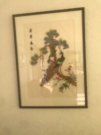 Framed Chinese Embroideries