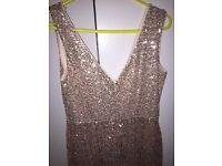 Stunning gold party dress wedding prom party
