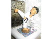 Handmade Traditional Korean Tae Kwondo Kicking Doll Figure