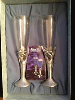 Seagull Pewter Champagne Flutes