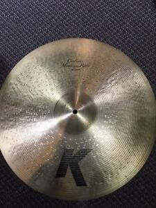 "Cymbale Zildjian K Custom Medium Ride 20"" usagée/used"