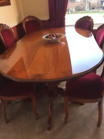 A Beautiful Table & 6 Chairs