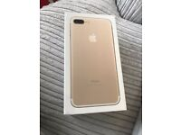 Apple iPhone 7 Plus - Gold - 32 GB - Locked on O2 Network