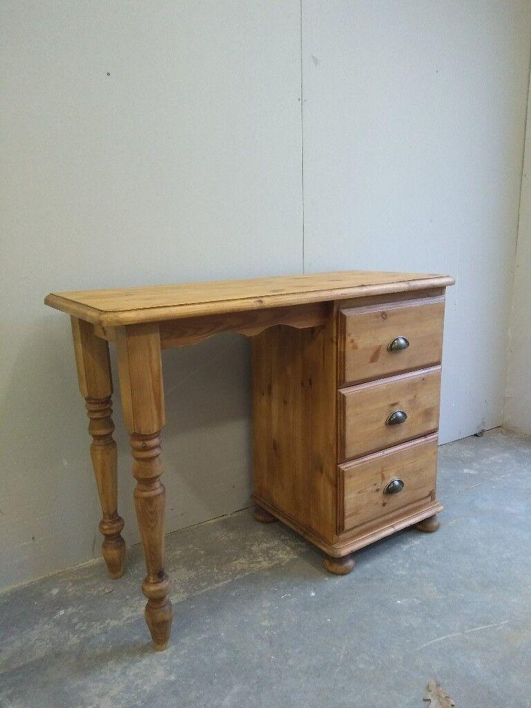 3 Drawer Pine Desk