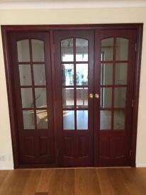 Set of internal french doors and side panel