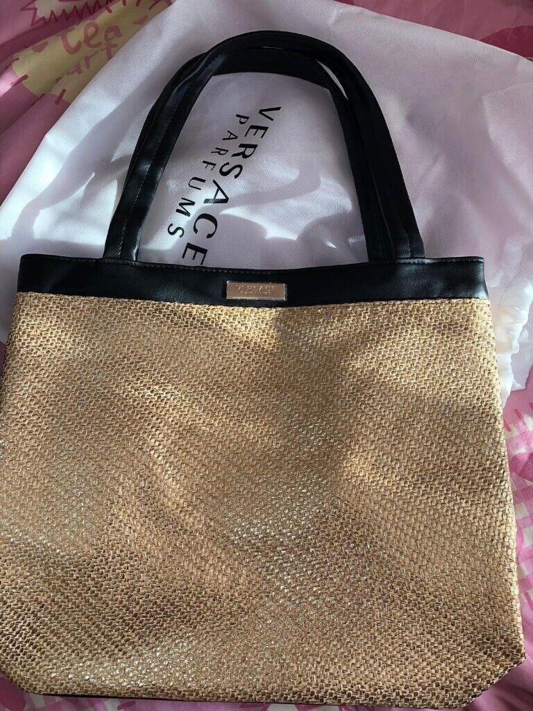 7dca313daca5 Versace Parfums Gold Tote Bag