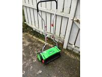 Manual push powered lawn mower Florabest great condition with height settings