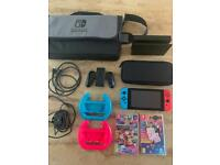Nintendo Switch (Neon Blue/Neon Red) Bundle