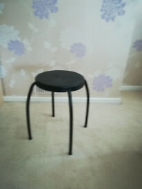 Black Ikea stool