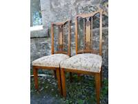 Pair of Edwardian inlaid chairs