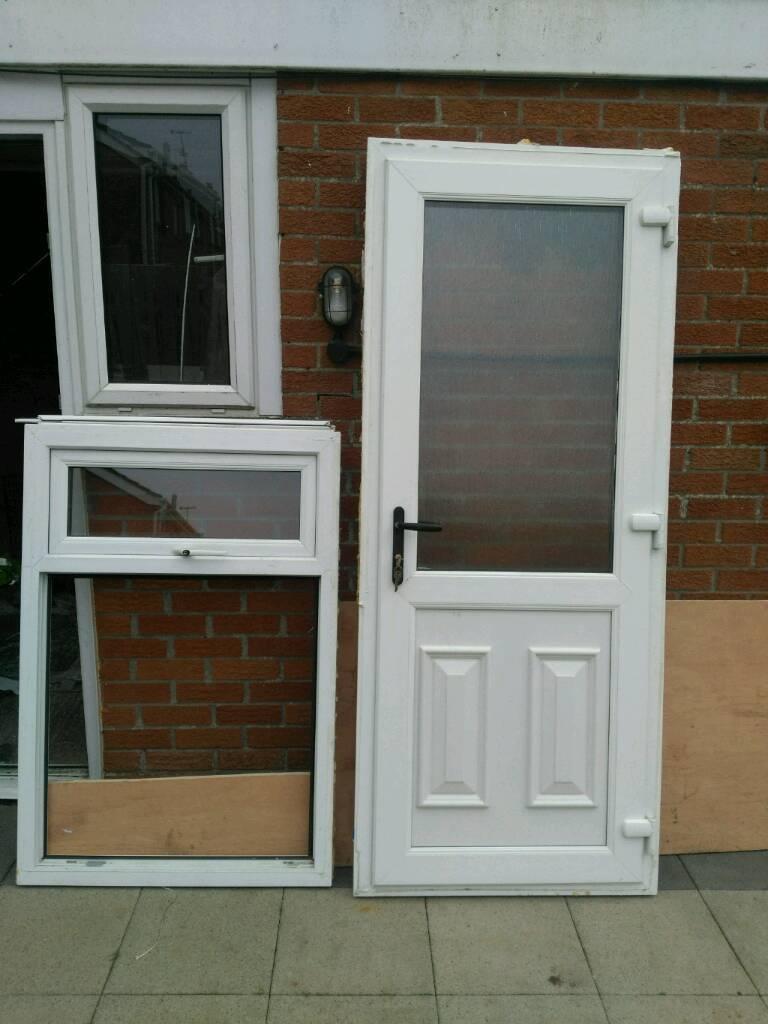 White pvc door and window