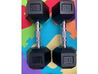 10kg Gym Dumbbells