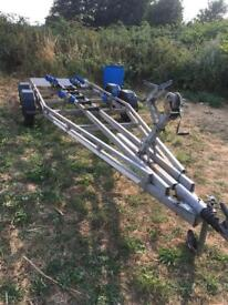 De graaff Twin axel boat trailer