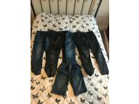 Boys Jeans x4 & x1 Shorts Size 11-12years