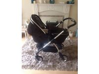 Black silver cross wayferer pram all accessories included