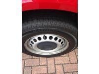 VW transporter t5 steel wheels + caps £100