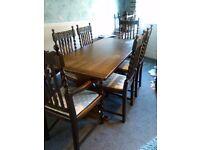 Table anf barley twist chairs