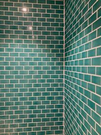 Midi Metro Crackle Teal Mosaic Tile Sheets x 5 Sheets - New and wrapped! £35 (£65 RRP)