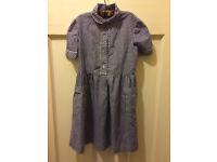 School dress (navy gingham)