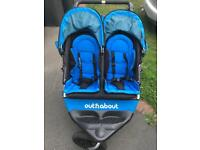 Out 'n' about nipper 360 v4 double in blue