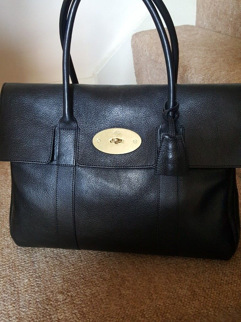 e7ddc662c072 ... sweden genuine mulberry black heritage bayswater with receipt rrp 1095  7af18 f29bb