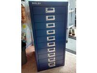 Bisley 10 drawer cabinet