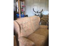 Two seat fabric sofa