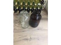Demijohn glass jar wine container 4.5l