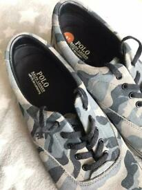 Size 11 Ralph Lauren camouflage trainers
