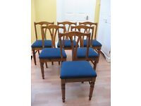 Dining chairs - 6 high quality solid antique pine chairs in excellent condition