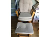 Rocking chair with gliding footstool