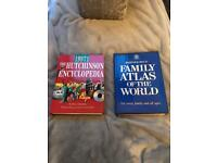 REFERENCE BOOKS - HUTCHINSON 1997 ENCYCLOPEDIA AND BARTHOLOMEW ATLAS - FAB CONDITION