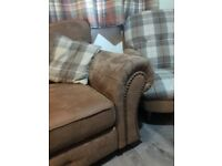Dfs sofa with arm chair
