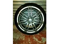 "GENUINE AUDI A3 RS4 TTS TTRS 19"" ALLOYS BLACK EDITION SET OF 4 ALLOYS"