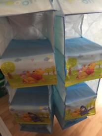 Set of 2 brand new Winnie the Pooh hanging compartments