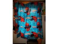 Spiderman curtains pair of 66 x 72 & single bedding set