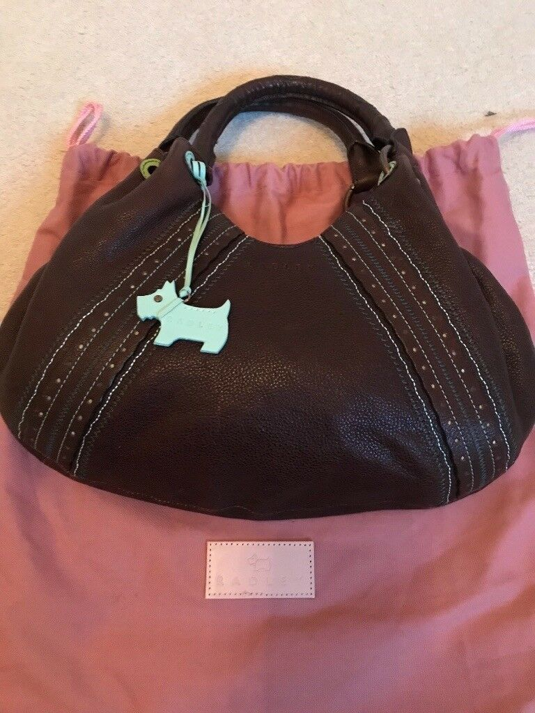 1f32011801c4 Radley Brown Leather Handbag (Never used)