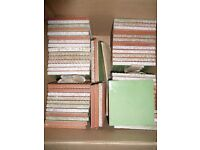 NEW Spanish hand painted ceramic apple green 11cm x 11cm wall tiles x 58
